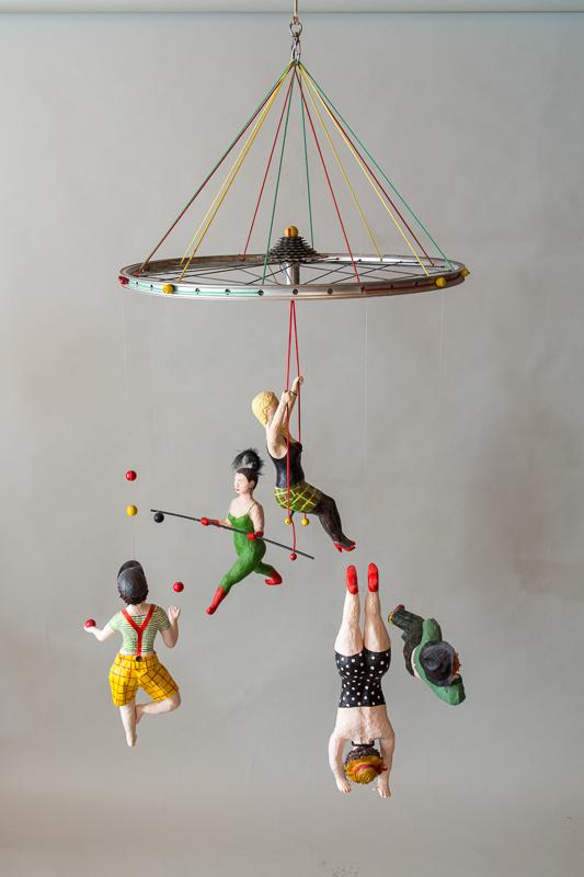 Zirkus Figuren von Johanna Iversen