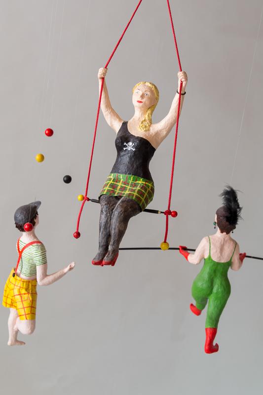 Zirkus Pappmachéfiguren von Johanna Iversen