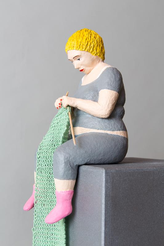 Jette Pappmachéfigur von Johanna Iversen